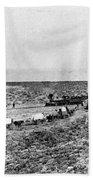 Railroad And Wagon Train Beach Sheet