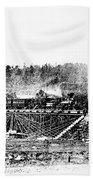 Railroad Bridge, 1858 Beach Towel