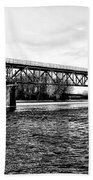 Railroad Bridge Over The Schuylkill River In Norristown Beach Towel