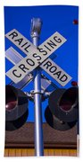 Railroad Crossing Beach Towel