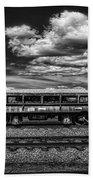 Railroad Gravel Car Beach Towel