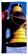 Railroad Oil Lantern Beach Towel