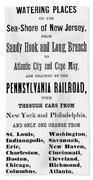 Railroad Resorts, 1884 Beach Towel