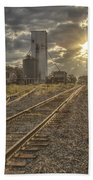 Railroad Sunrise Beach Towel