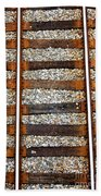 Railroad Track With Gravel 2 Beach Towel