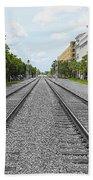 Railroad Tracks Beach Towel