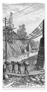 Railroad Washout, 1885 Beach Towel