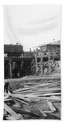 Railroad Workers, 1901 Beach Towel