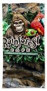 Rain Forest Cafe Signage Walt Disney World Beach Towel