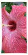 Rain Soaked Hibiscus Beach Towel