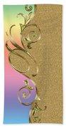 Rainbow And Gold Beach Towel