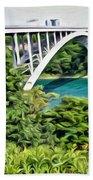 Rainbow Bridge View Beach Towel