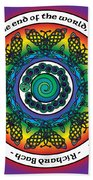 Rainbow Celtic Butterfly Mandala Beach Towel