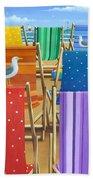 Rainbow Deckchairs Beach Towel
