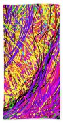Rainbow Divine Fire Light Beach Towel