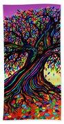 Rainbow Dreams And Falling Leaves Beach Sheet