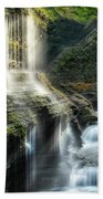 Rainbow Falls Square Beach Towel