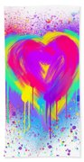 Rainbow Heart Beach Towel