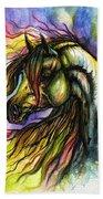 Rainbow Horse 2 Beach Towel