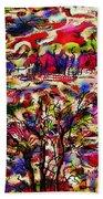 Rainbow Landscape Beach Towel