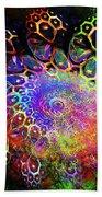 Rainbow Leopard Beach Towel