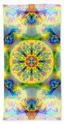 Rainbow Light Mandala Beach Towel