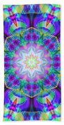 Rainbow Lotus Beach Towel