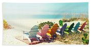 Rainbow Of Adirondack Chairs IIII Beach Towel