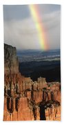 Rainbow Over  Bryce Canyon Beach Towel