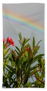 Rainbow Over Flower Beach Towel