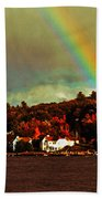 Rainbow Over Winnipesaukee Two Beach Towel