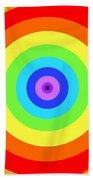 Rainbow Reality Beach Towel by Mariola Bitner