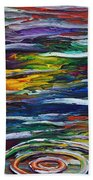 Rainbow Ripple Beach Towel