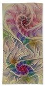 Rainbow Spirals Beach Towel
