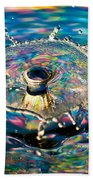 Rainbow Splash Beach Towel