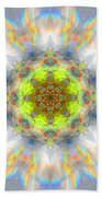 Rainbow Starburst Mandala Beach Towel