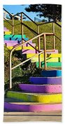 Rainbow Steps Beach Towel