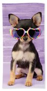 Rainbow Sunglasses Beach Towel by Greg Cuddiford