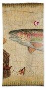 Rainbow Trout-basket Weave Beach Towel