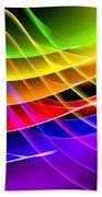 Rainbow Waves Beach Towel