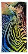 Rainbow Zebra Beach Towel by Hailey E Herrera