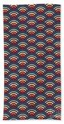 Rainbowaves Pattern Dark Beach Towel