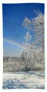 Rainbows Of Ice Beach Towel