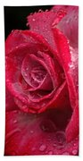 Raindrops On Roses Beach Towel by Peggy Hughes