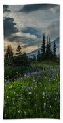 Rainier Abundance Of Flowers Beach Towel