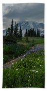 Rainier Meadows Wandering Beach Towel