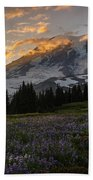 Rainier Purple Lupine Carpet Beach Towel