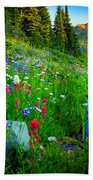 Rainier Wildflower Creek Beach Towel