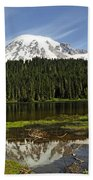 Rainier's Reflection Beach Towel