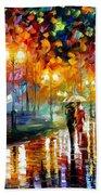 Rain's Rustle - Palette Knife Oil Painting On Canvas By Leonid Afremov Beach Towel
